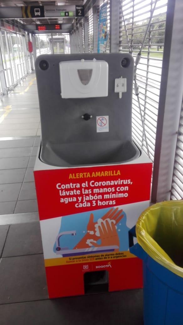 Vandalismo y daños en lavamanos portátiles de TransMilenio